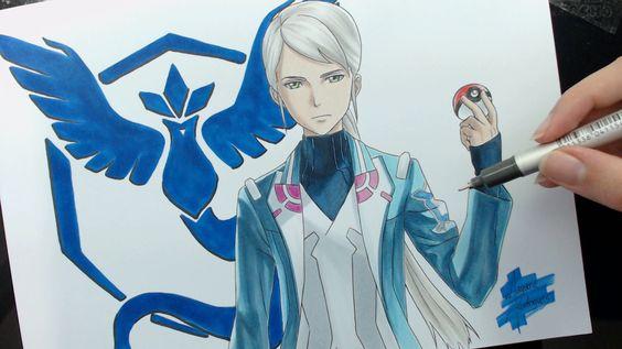 Speed Drawing - Team Mystic: Blanche (Pokémon GO)