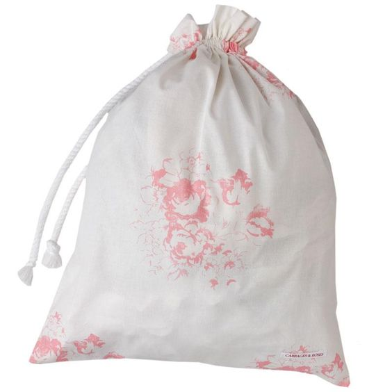 Cabbages and Roses Hatley laundry bag - pink: