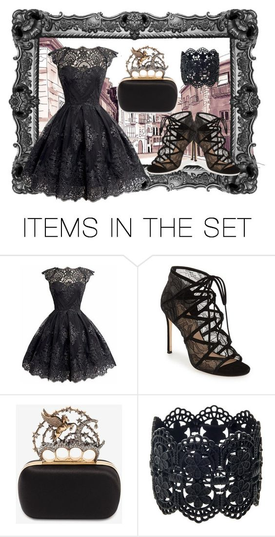 """""""Black Lace"""" by faheemak ❤ liked on Polyvore featuring art"""