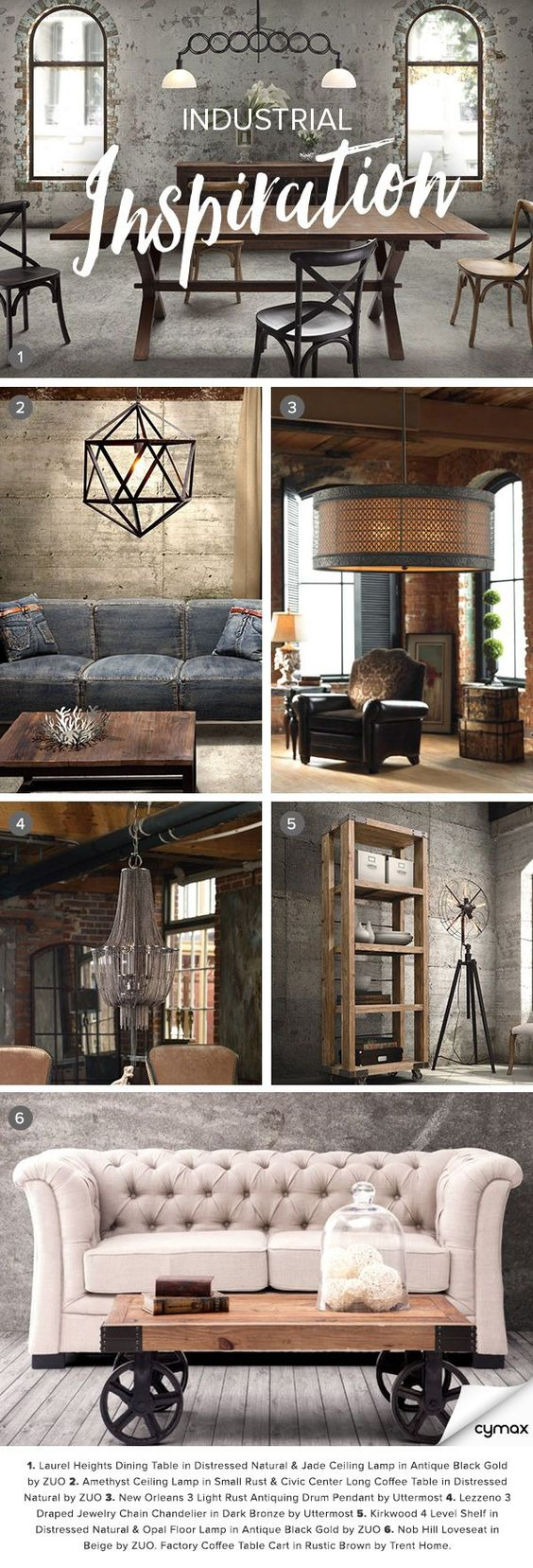 Exposed brick. Gritty textures. Distressed design. If you're a fan of the industrial look, you'll love rummaging through our collection of chic industrial treasures. Click on the image to shop our industrial collection today and save up to 70% off!