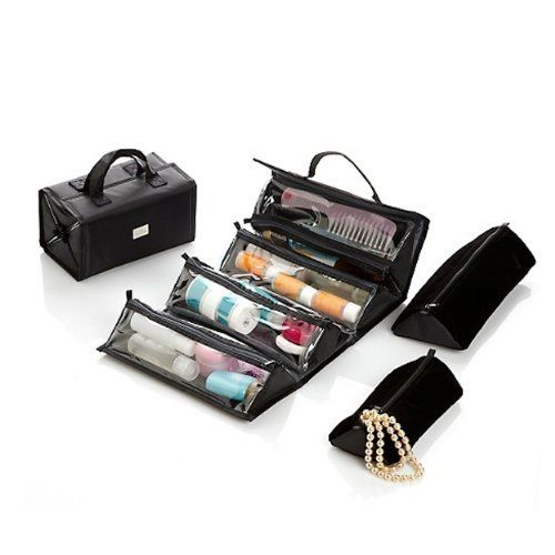 Joy Mangano Ultimate Better Beauty Case Set with Plush Bonuses by Joy Mangano. $29.95. Each case has 4 easy-view, clear zippered compartments. Large velvet pouch, Medium velvet pouch. Large roll-up beauty case, Medium roll-up beauty case. Joy Mangano Ultimate Better Beauty Case Set with Plush Bonuses Looking for the ultimate way to keep everything together? This roll-up duo with bonus velvet pouches offers an ingenious approach to day-to-day organizing. Arrange your hair clips, ...