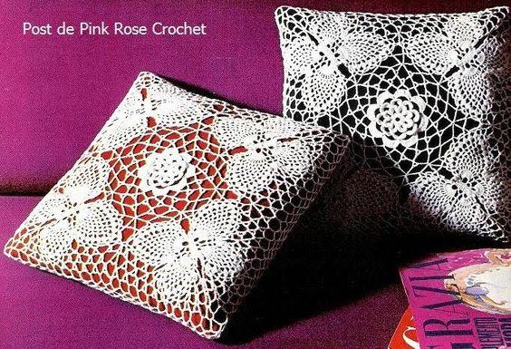 Schmetterlinge Kissen häkeln - crochet pillow