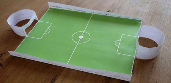 Puste-Fußball-Spiel