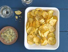 Chips mit Zitrone und Rosmarin