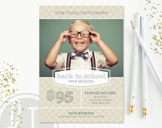 Back to School Mini Session Template @creativework247