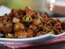 Breakfast Potatoes with Easy Red Chile-Lime Hollandaise and Picked Jalapeño | Brunch @ Bobby's (pinned mainly for potatoes with chorizo)