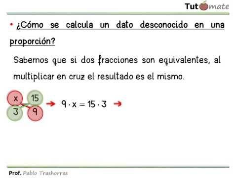 Cálculo Del Término Desconocido En Una Proporción Youtube Fracciones Proporciones Calculadora
