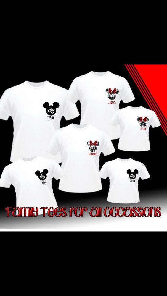 Personalize Disney Family Vacation Shirts, perfect for Disney World or Disneyland. pick your Shirt Color and Vinyl Color by PinkStarCustomDesign on Etsy https://www.etsy.com/listing/202321992/personalize-disney-family-vacation