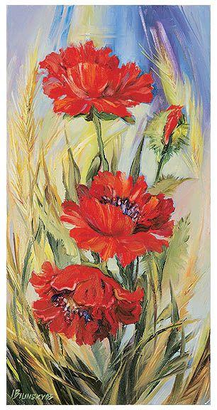 Picturi acrilice flori