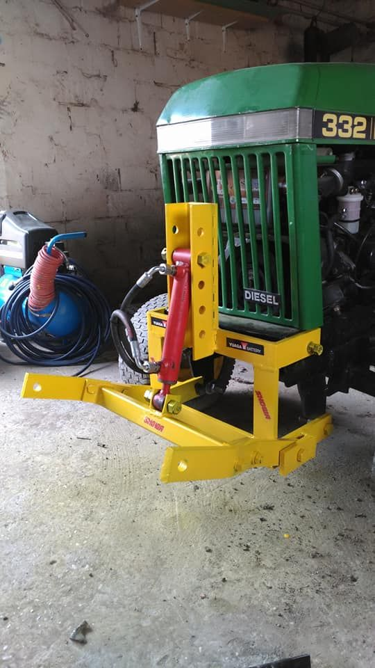 Front Lift Attachment Home Made Garden Tractor Attachments Homemade Tractor Tractor Idea