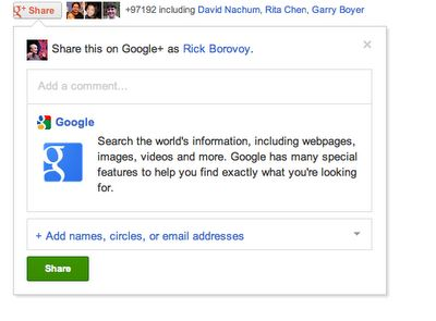 Google Launches The Google+ Share Button : Increase Traffic Engagement On Your Site