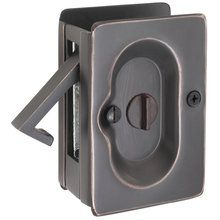 """Emtek 2102 3-1/2"""" Height Solid Brass Privacy Pocket Door Lock"""
