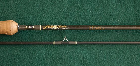Fenwick graphite rod. Accession No. 2005.006.003.  In 1973, Fenwick introduced HMG—the first high-modulus graphite rods—in spinning and casting models, ushering in a  new era in rod construction; Fenwick's fly rod model debuted the following year.