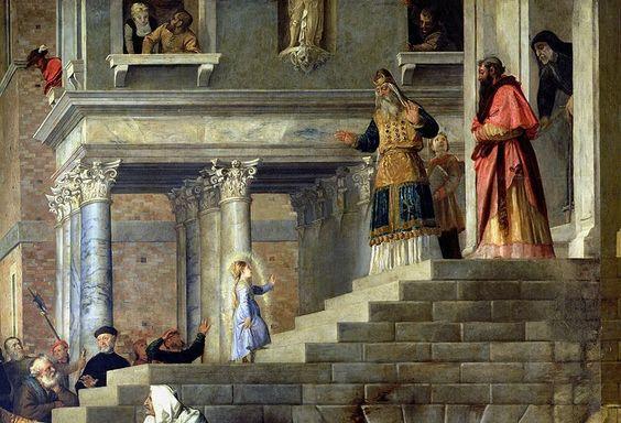 Введение во храм Пресвятой Богородицы (фрагмент). Тициан (Тициано Вечеллио)