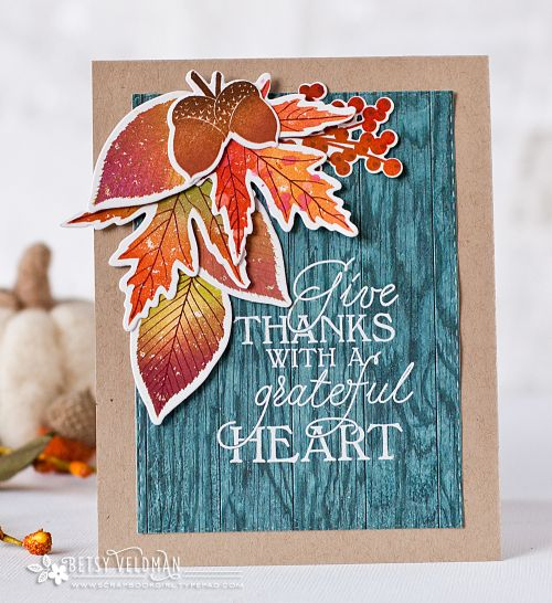 Give Thanks Card by Betsy Veldman for Papertrey Ink (September 2016)