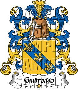Guiraud Family Crest apparel, Guiraud Coat of Arms gifts