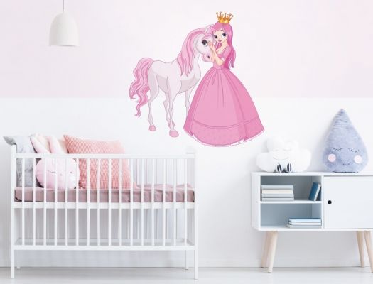 Wandtattoo Prinzessin Mit Pferd In Rosa Und Pink Als Deko I Love Wandtattoo De Wandtattoo Kinder Zimmer Wandtattoos