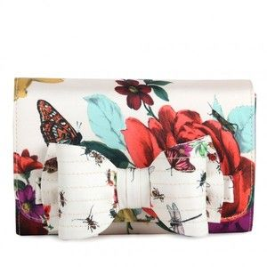 $85.00 Ted Baker Rose Bug print clutch    http://www.polyvore.com/ted_baker_womens_cream_rose/thing?id=56643485