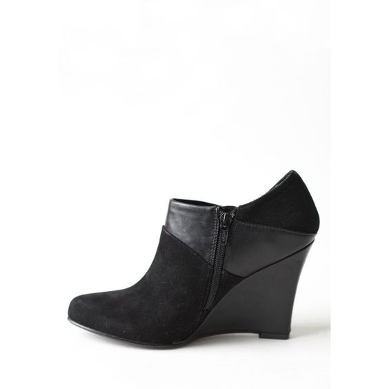 Night Music Wedge Ankle Boots ($60) ❤ liked on Polyvore