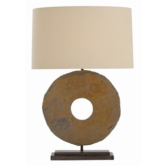 Arteriors Emerson Lamp — Made from a hand-cut piece of natural slate