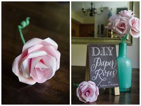 How to make paper roses My Favorite Pins Pinterest Paper