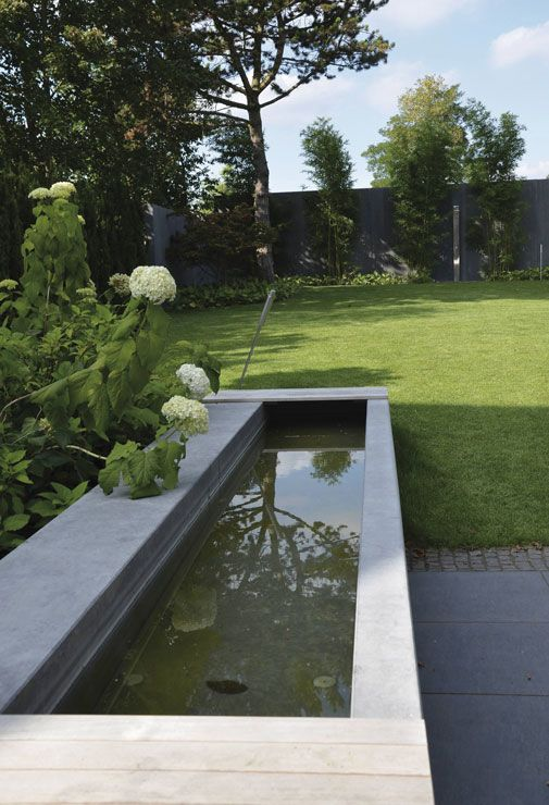 Wasserbecken Beton #Metten Garten-Ideen Pinterest - garten brunnen stein ideen