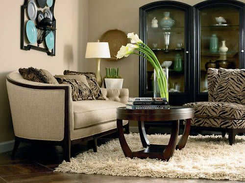 Crillon Contemporary Wood Fabric Sofa Couch Chaise Set Living Room