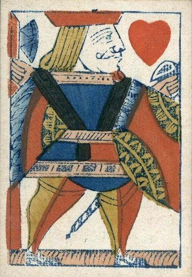 How to Play Whist: Image of a playing card from Hall & Sons, early 19th century.
