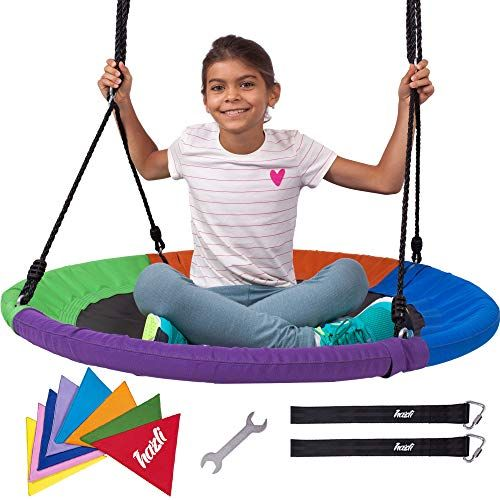 40 Saucer Swing For Kids Large Saucer Swings For Child Https Www Dp B00jg4z5z6 Ref Cm Sw R Pi Dp U X 79r Kids Swing Kids Play Set Tree Swing