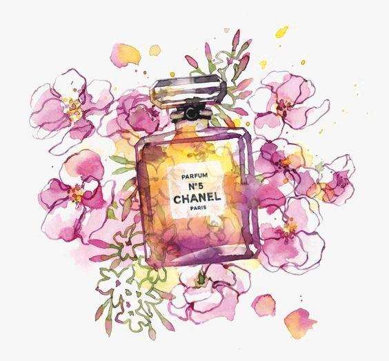 Designer Inspired Perfume Bottle Wall Art Print Illustration Print Pink Designer Home Decor Floral Butterfly Pretty Fa Perfume Art Perfume Bottle Art Perfume