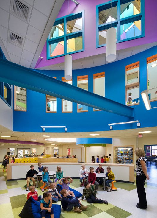 What Architecture Has to Say About Education: Three New Hampshire Schools by HMFH Architects,McAuliffe Elementary School: Concord, NH / HMFH Architects; Photographs: © 2012 Ed Wonsek