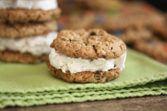 Barefeet In The Kitchen: Monster Cookie Ice Cream Sandwiches