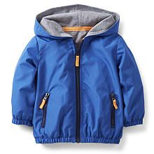 Carter's Boys Blue Jersey Lined Windbreaker