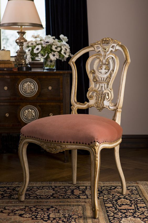 Dauphine Ii Side Chair By Ebanista Gilded Furniture Side Chairs