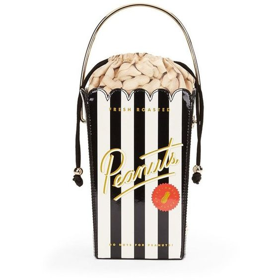 Kate Spade New York Flavor of the Month Peanuts Bag (385 AUD) ❤ liked on Polyvore featuring bags, handbags, multi, drawstring handbag, white handbags, white drawstring bag, patent leather purse and draw string bag