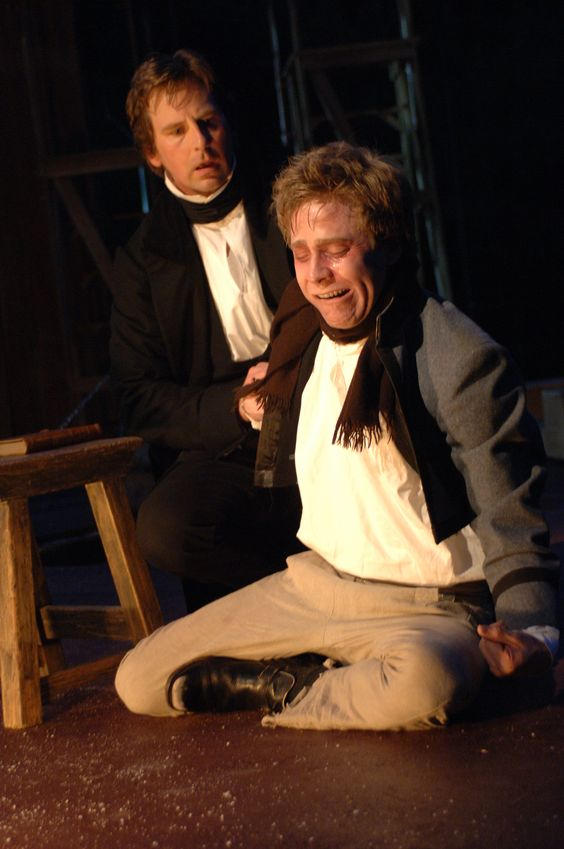 Stephen Barker Turner as Nicholas and Clifton Guterman as Smike in The Adventures of Nicholas Nickleby, 2005. #calshakes40th