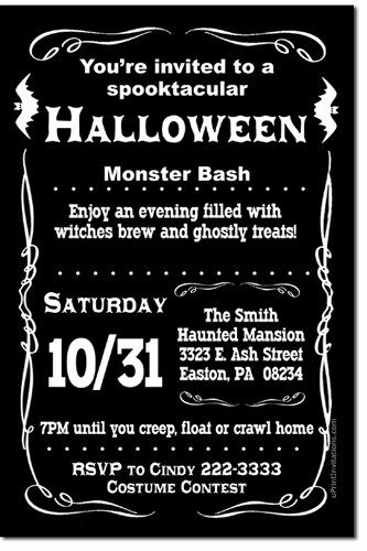 adult halloween party invitation - Google Search