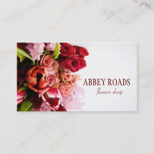 Pin On Florist Business Card Templates Custom Personalized Design