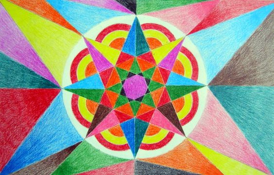 Del rojo al violeta: Polígonos Estrellados: