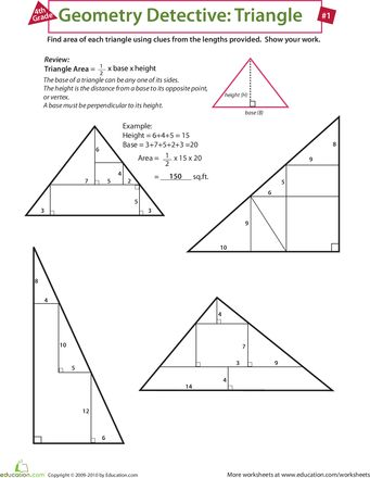 Slideshow: Geometry Detective: Triangle: