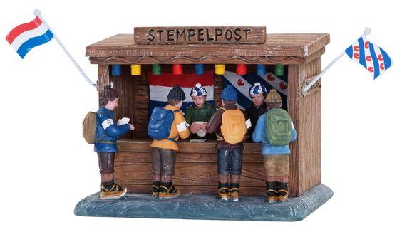 """Dickensville Elfsteden Series -""""Stempelpost"""" - Elfstedentocht."""