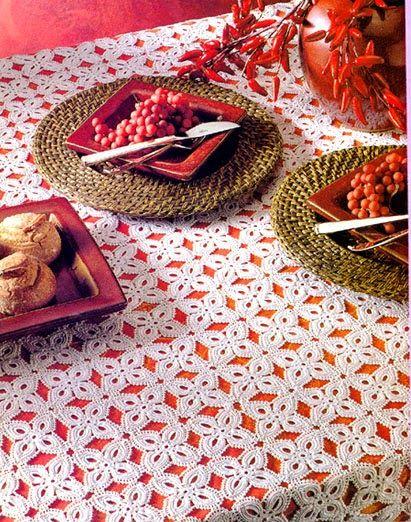 Delicadezas en crochet Gabriela: Mantel de ganchillo.