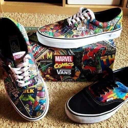 Image via We Heart It https://weheartit.com/entry/180551641 #comics #Marvel #shoes #skate #vans