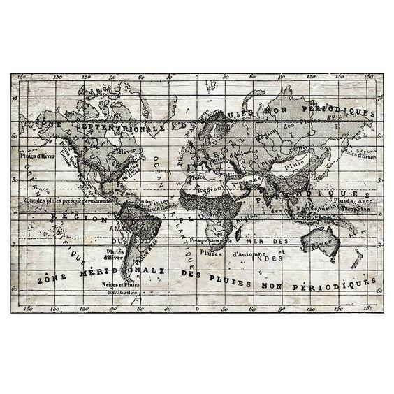 Vintage Map Canvas Print 101x65cm $179