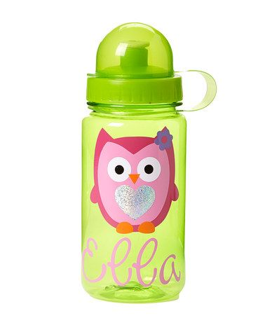 Another great find on #zulily! Green Owl Personalized Dome Top Water Bottle #zulilyfinds