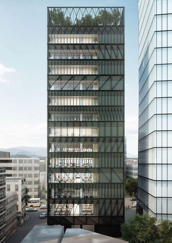 Namdeamun Office Building Mecanoo Archinect Unbuilt Pinterest Desig