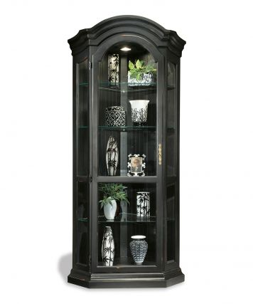 Panorama Corner Display Cabinet in Black | Philip Reinisch | Home Gallery Stores