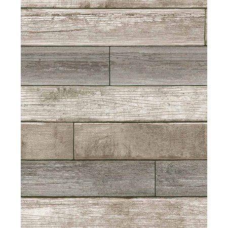 Nuwallpaper Peel And Stick Wallpaper Walmart Com Stick On Wood Wall Peel And Stick Wallpaper Wood Plank Wallpaper