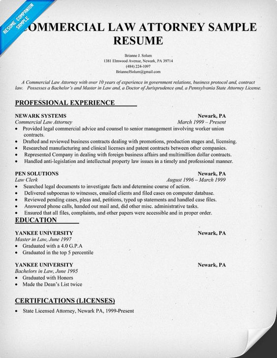commercial law attorney resume lawyer resume environmental law patent agent resume principal