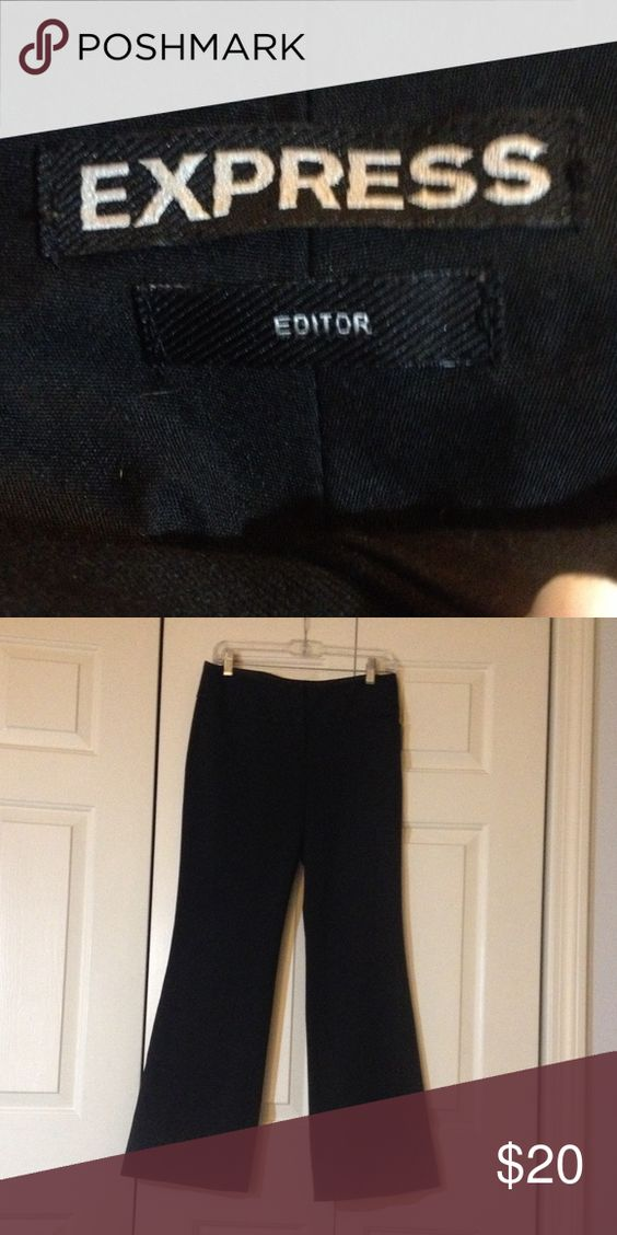 Express Editor pant Black Editor pant.  Excellent condition.  Wide leg trousers.  Great for work or school. Express Pants Trousers